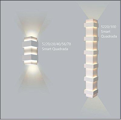Arandela Quadrada Smart 12 cm - Usina Design 5220-100
