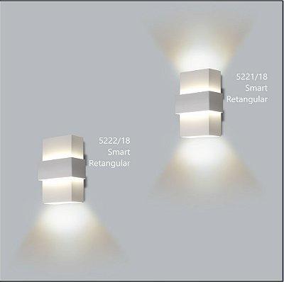 Arandela Retangular Smart 12 x 7 cm - Usina Design 5222-18