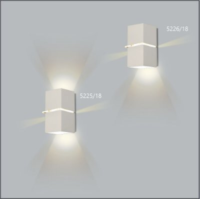 Arandela Quadrada Kiara 18 cm - Usina Design 5225-18