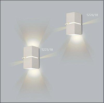 Arandela Quadrada Kiara Fechada 18 cm - Usina Design 5226-18