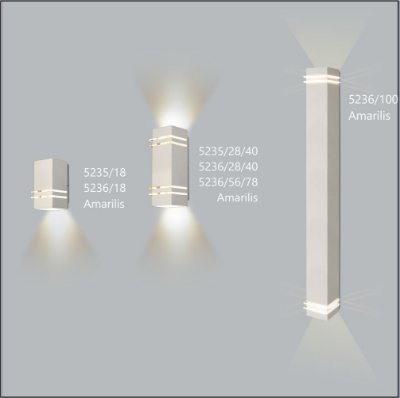 Arandela Quadrada Amarilis  28 cm - Usina Design 5236-28