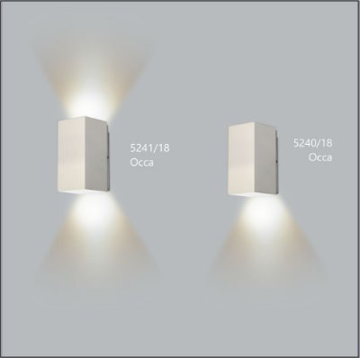 Arandela Quadrada Occa Fechada 18 cm - Usina Design 5240-18