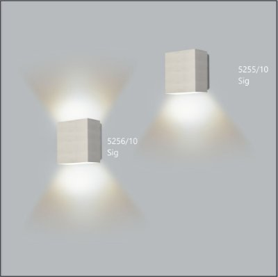 Arandela Retangular Sig 10,5 x 10 cm - Usina Design 5256-10