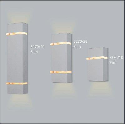 Arandela Retangular Slim 28 x 10,5 cm - Usina Design 5270-28
