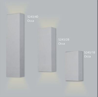 Arandela Retangular Occa 40 cm - Usina Design 5243-40