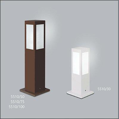 Poste Quadrado Jardim Alberino 50 cm - Usina Design 5510-50