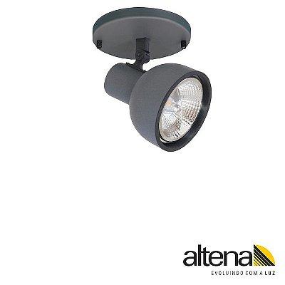 Spot Dome com canopla (Grafite Fosco) - Altena Iluminação