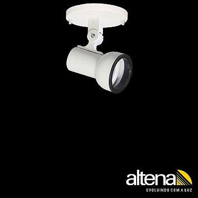 Spot Dome com canopla Branco Fosco - Altena Iluminação