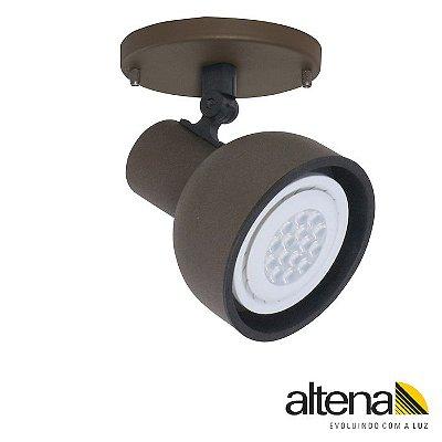 Spot Dome com canopla (Marrom Café) - Altena Iluminação