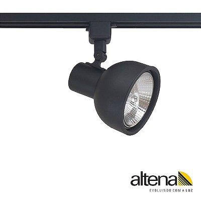 Spot Dome com Plug Altrac para Trilho Eletrificado Preto Fosco - Altena Iluminação