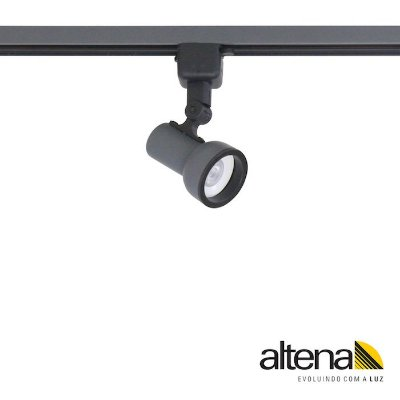 Spot Dome com Plug Altrac para Trilho Eletrificado Grafite Fosco - Altena Iluminação