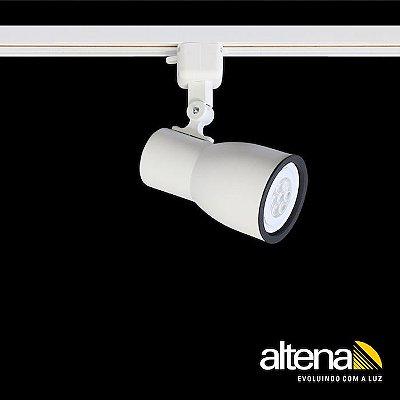 Spot Dome com Plug Altrac para Trilho Eletrificado Branco Fosco - Altena Iluminação