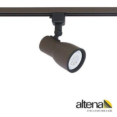 Spot Dome com Plug Altrac para Trilho Eletrificado Marrom Café - Altena Iluminação