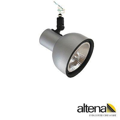 Spot Dome sem Canopla Platinado - Altena ILuminação