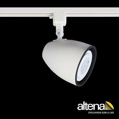 Spot Duo com Plug Altrac para Trilho Eletrificado Branco Fosco - Altena Iluminação