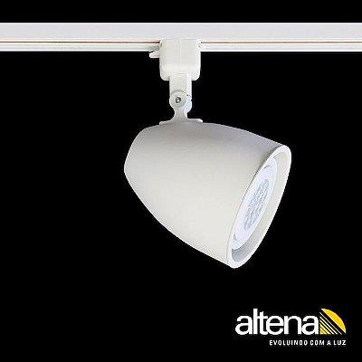 Spot Duo com Plug Altrac para Trilho Eletrificado Branco Mono - Altena Iluminação