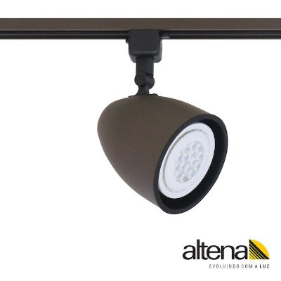 Spot Duo com Plug Altrac para Trilho Eletrificado Marrom Café - Altena Iluminação
