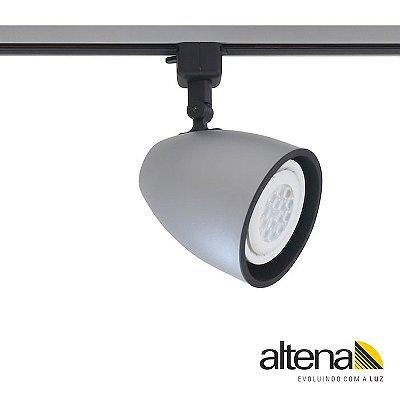 Spot Duo com Plug Altrac para Trilho Eletrificado Platinado - Altena Iluminação