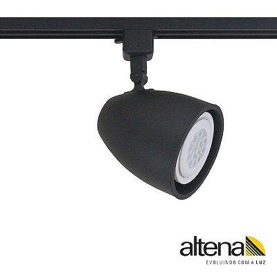 Spot Duo com Plug Altrac para Trilho Eletrificado Preto Fosco - Altena Iluminação