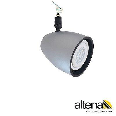 Spot Duo sem Canopla Platinado - Altena ILuminação
