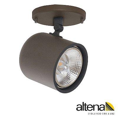 Spot Giga com canopla Marrom Café - ALtena Ilumiação