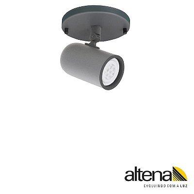 Spot Giga com canopla Grafite Fosco - Altena ILuminação