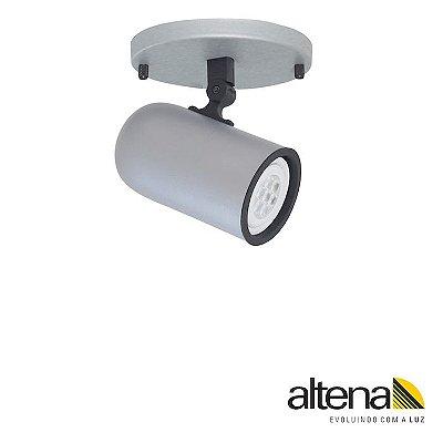 Spot Giga com canopla Platinado - Altena Iluminação