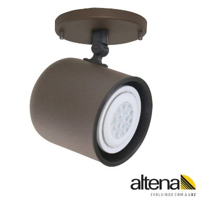 Spot Giga com canopla Marrom Café - Altena ILuminação