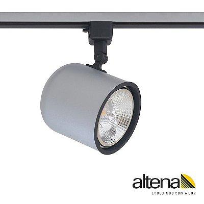 Spot Giga com Plug Altrac para Trilho Eletrificado Platinado - Altena Iluminação