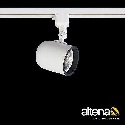 Spot Giga com Plug Altrac para Trilho Eletrificado Branco Fosco - Altena ILuminação
