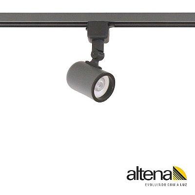 Spot Giga com Plug Altrac para Trilho Eletrificado Grafite Fosco - Altena ILuminação