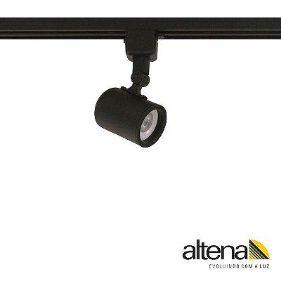 Spot Giga com Plug Altrac para Trilho Eletrificado Preto Fosco - Altena Iluminação