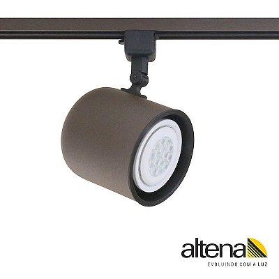 Spot Giga com Plug Altrac para Trilho Eletrificado Marrom Café - Altena Iluminação