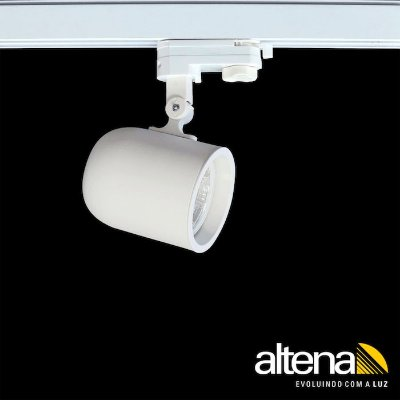 Spot Giga com Plug Altrac PRO para Trilho Eletrificado de três circuito Branco Mono - Altena ILuminação