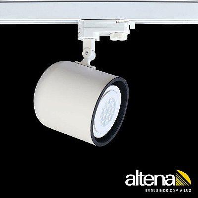 Spot Giga com Plug Altrac PRO para Trilho Eletrificado de três circuitos Branco Fosco - Altena Iluminação