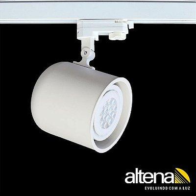 Spot Giga com Plug Altrac PRO para Trilho Eletrificado de três circuitos Branco Mono - Altena ILuminação