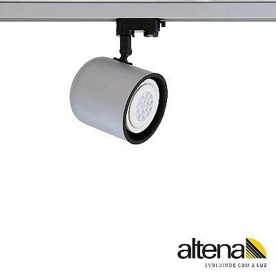 Spot Giga com Plug Altrac PRO para Trilho Eletrificado de três circuitos Platinado - Altena Iluminação