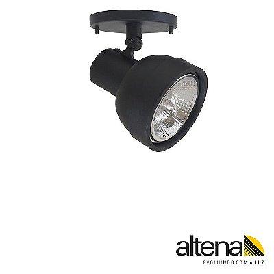 Spot Simi com canopla Preto Fosco - Altena ILuminação