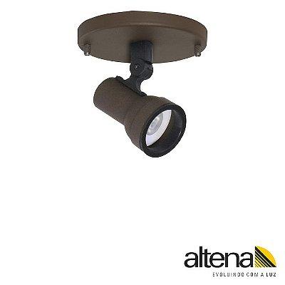 Spot Simi com canopla Marrom Café - Altena ILuminação