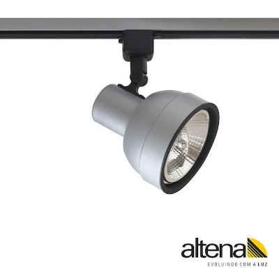 Spot Simi com Plug Altrac para Trilho Eletrificado Platinado - Altena Iluminação