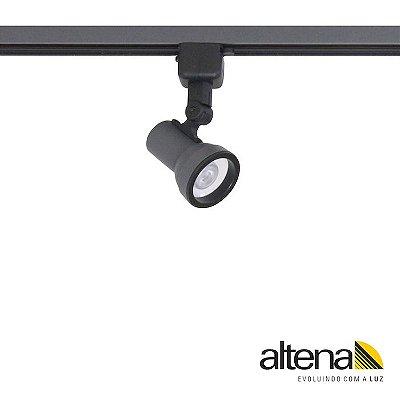 Spot Simi com Plug Altrac para Trilho Eletrificado Grafite Fosco - Altena ILuminação