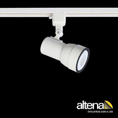 Spot Simi com Plug Altrac para Trilho Eletrificado Branco Fosco - Altena ILuminação