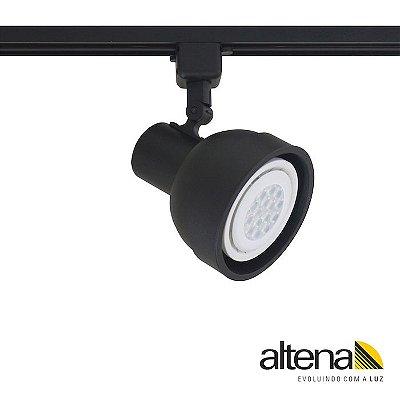Spot Simi com Plug Altrac para Trilho Eletrificado Preto Fosco - Altena Iluminação