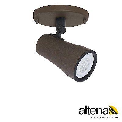 Spot Soft com canopla Marrom Café - Altena Iluminação