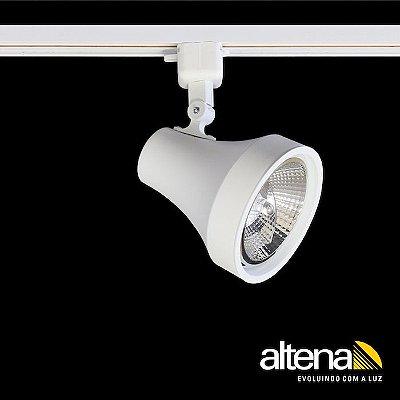 Spot Soft com Plug Altrac para Trilho Eletrificado Branco Mono - Altena Iluminação