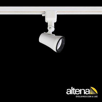 Spot Soft com Plug Altrac para Trilho Eletrificado Branco Fosco - Altena Iluminação