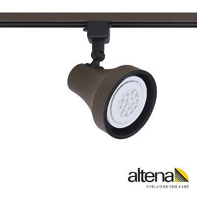 Spot Soft com Plug Altrac para Trilho Eletrificado Marrom Café - Altena Iluminação