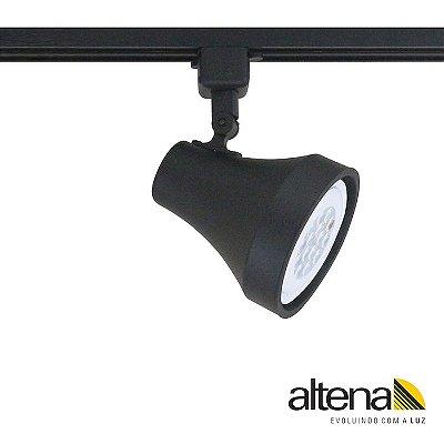 Spot Soft com Plug Altrac para Trilho Eletrificado Preto Fosco - Altena Iluminação