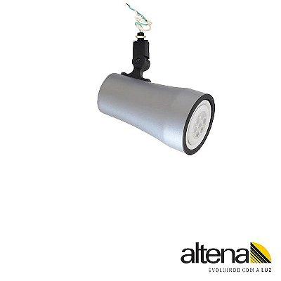 Spot Soft sem Canopla Platinado - Altena Iluminação