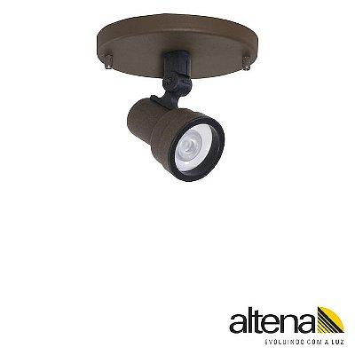 Spot Style com canopla Marrom Café - Altena Iluminação